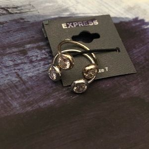 NWT Express ring set duo gem gold silver size 7